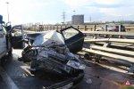 Санкт-Петербург. Авария на КАД