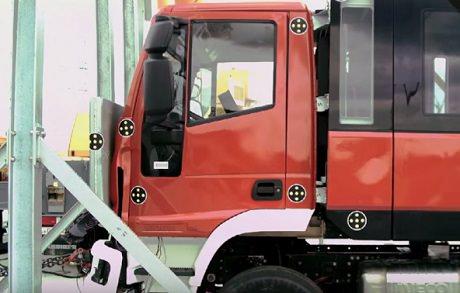 Краш тест Magirus, кабина пожарного автомобиля