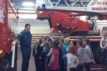 В гости к кронштадтским пожарным пришли ребята из школы № 427