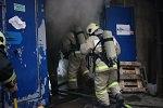 Пожар на складе в Адмиралтейском районе - ликвидирован
