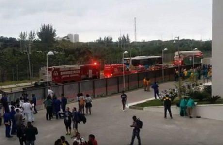 Бразилия. Пожар в Олимпийской деревне в Рио-де-Жанейро