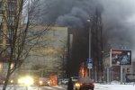 Санкт-Петербург. Сильный пожар на Литовской улице