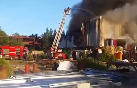 Санкт-Петербург. Пожар в Приморском районе