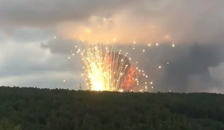 Ачинск. Взрывы ипожар наскладе боеприпасов