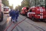 Москва. Пожар на 6-й Кожуховской улице