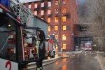 Санкт-Петербург. Пожар в «Невской мануфактуре»